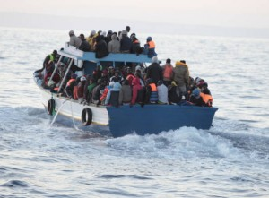 A typical rickety over-crowded migrant boat (File photo)