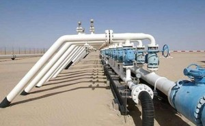 Oil pipes in Libya