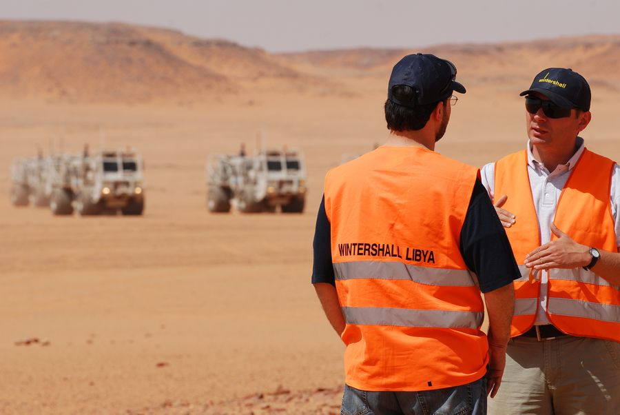 A Wintershall seismic team in Libya early this year