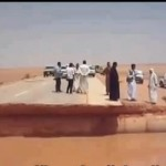 Rains wash away road to Sebha