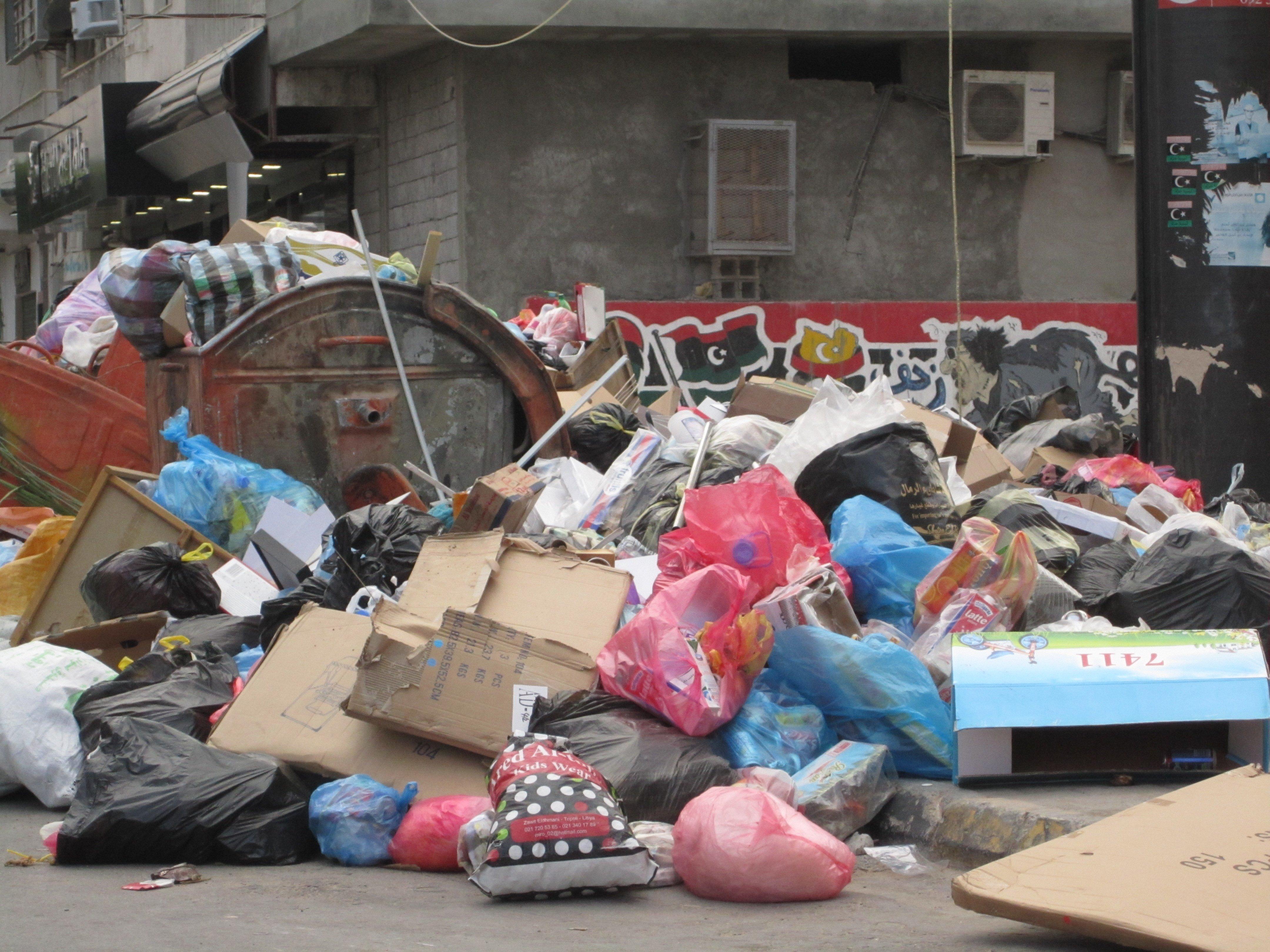 tripoli s rubbish collectors protest over unpaid salaries