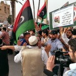 Sparks fly in Tripoli standoff between militia opponents and supporters