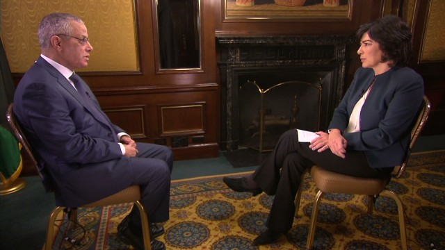 Prime Minister taling to CNN's Amanpour