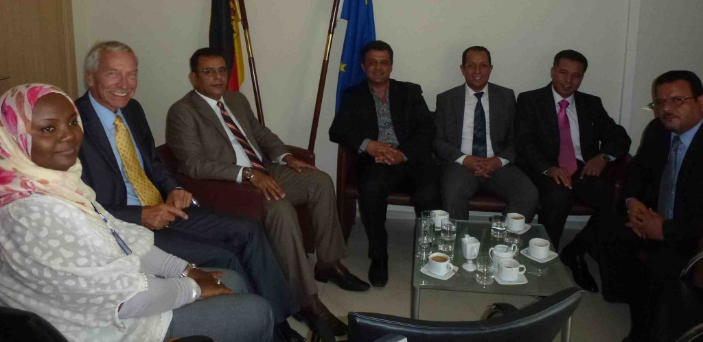 German ambassador Christian Much with some of the German-trained Libyan diplomats