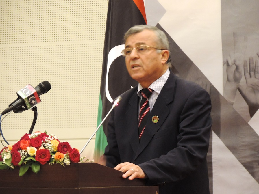 Congress President Nuri Abu Sahmain at the Transitional Justice Law conference