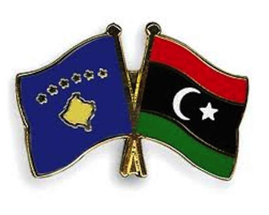 Kosovo Libya flags