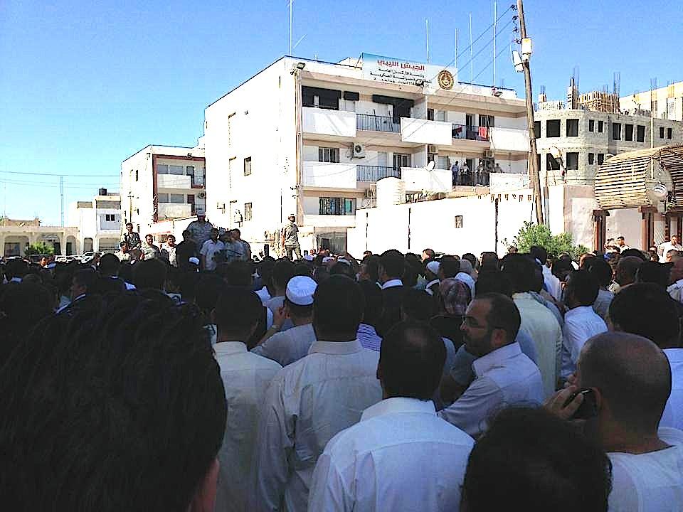 The funeral today of Abdurrauf Al-Sahli in Misrata