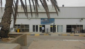 Mitiga Airport's main entrance (Photo: Nigel Ash, Libya Herald)