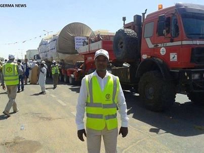 The turbine arriving in Ubari