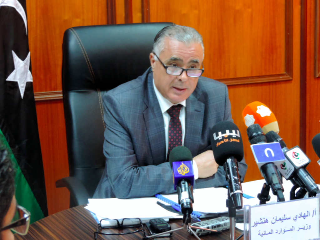 Water resources minister Hadi Hinshir