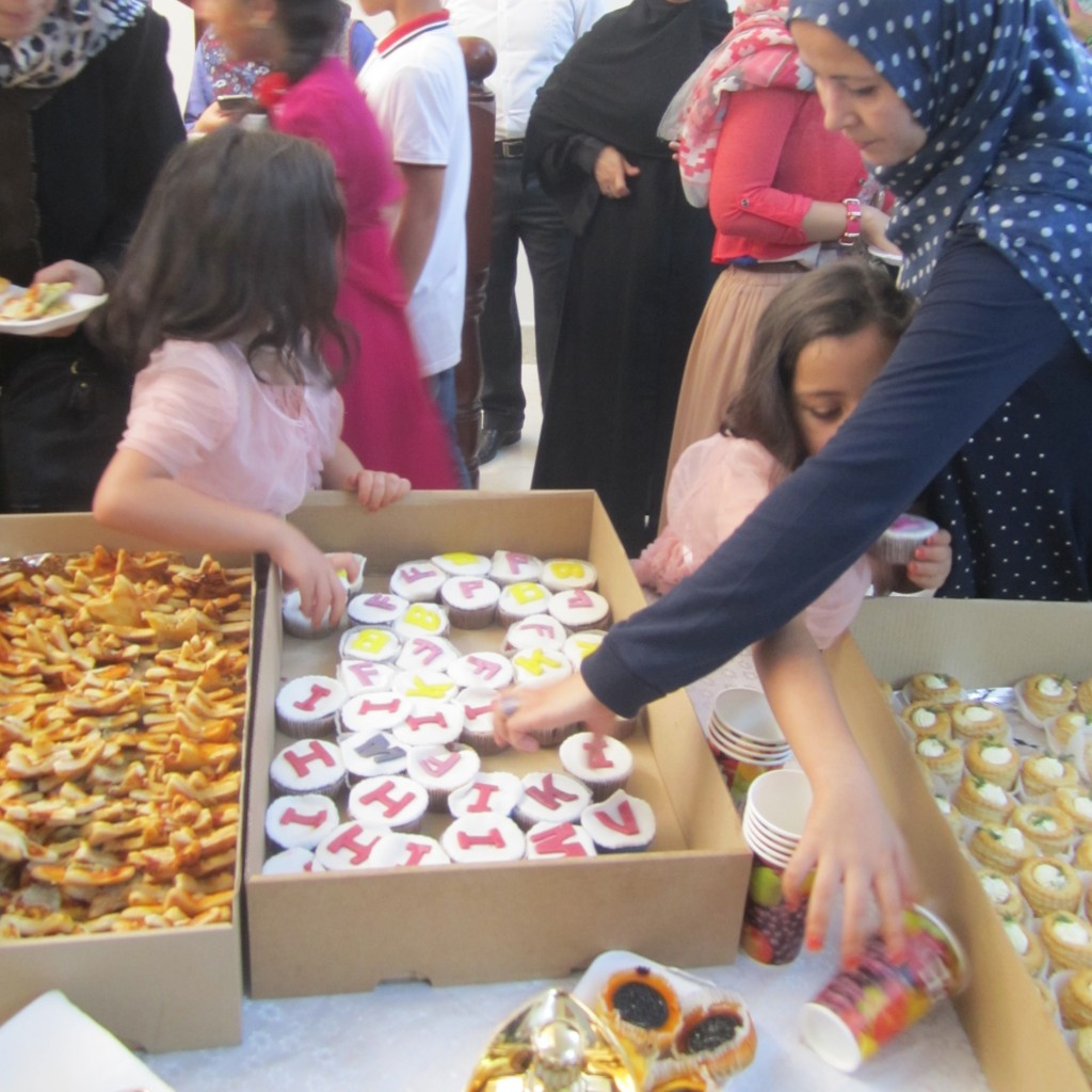 The alphabet cakes were particularly popular at the opening of the school (Photo: Tom Westcott, Libya Herald)