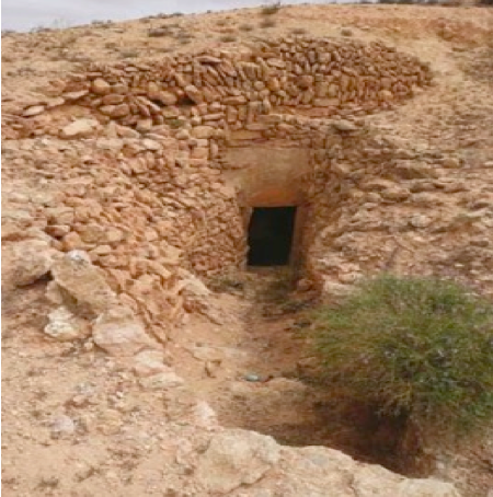 The entrance to one of the Berber troglodyte dwellings (Phot: )