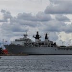 UK Navy Flagship in Tripoli along with British Armed Forces Minister