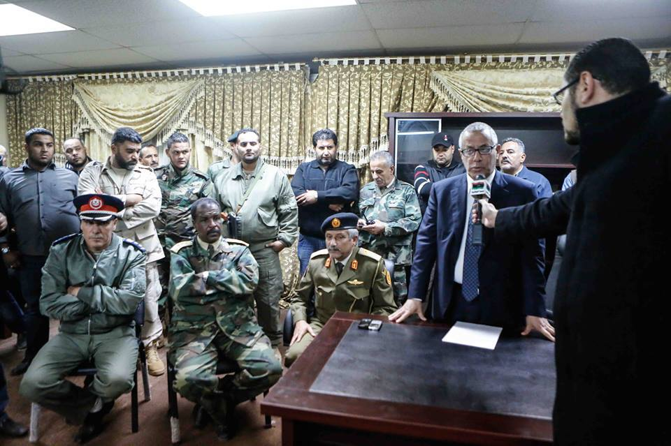 Zeidan in Benghazi this evening