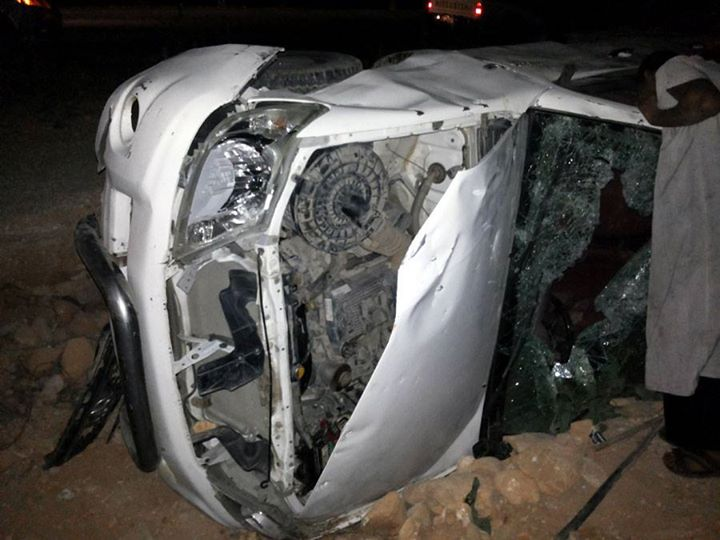 A picture apparenty of the wrecked Ansar guard's truck