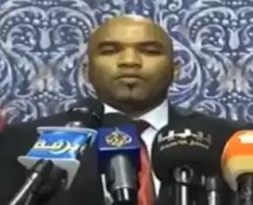 Jadhran speaking today in Ajdabia (Photo: Nabba TV)