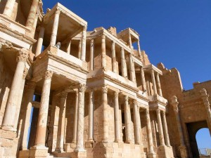 Leptis Magna's theatre, only one jewel is a large tourism crown