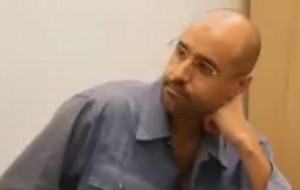 Saif Al-Islam during an interview in November (photo: Al-Assema TV)