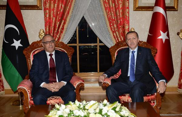 Ali Zeidan with the Turkish Prime Minister in Ankara (Photo:Turkish Diplomatic Office)