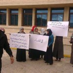 Women's group stages anti-corruption demonstration outside Ministry of Tourism