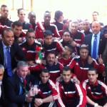 Triumphant football team heads to Tripoli