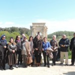 French rights group tour Leptis Magna with the Libyan Women's Union