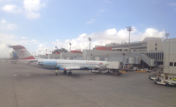 Austrian Airlines at Tripoli International Airport