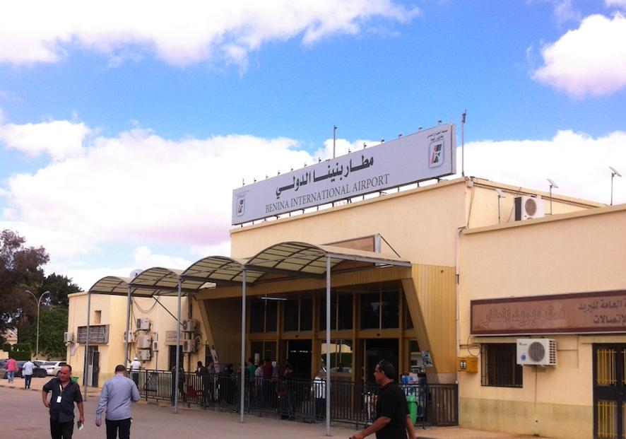 Travel to and from Benina Airport was today disrupted by protestors (Photo: )