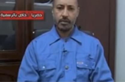 Grab from video of Saadi Qaddafi claiming contacts with Ibrahim Jadhran