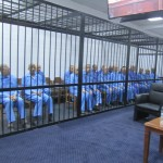 Saif Qaddafi and regime-era officials in court today