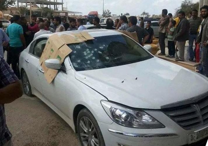 Ibrahim Senussi's car (Photo: social media)