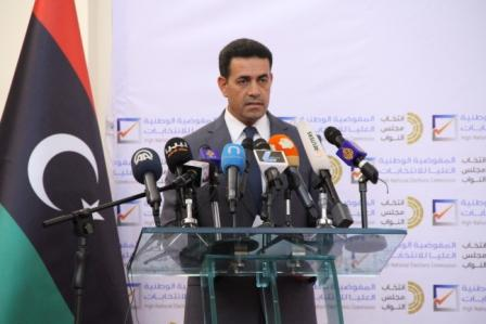 HNEC Presidetn Imad Al-Sayeh speaking at the press conference (Photo: HNEC)