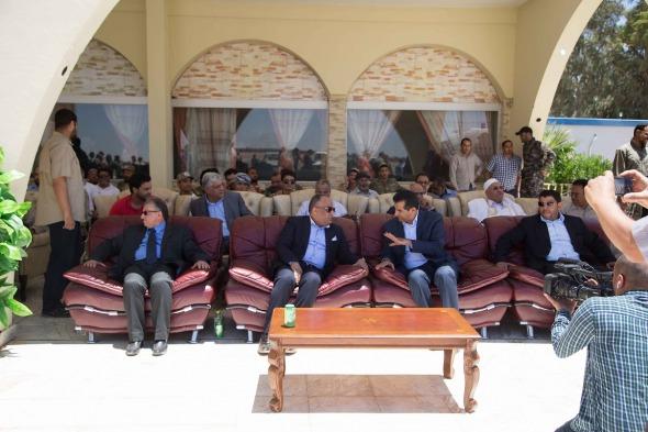 Deputy PM Salah Al-Gadi at the reopening of Sebha Aiport