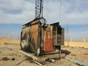 A remote Al-Madar base station vandalised early last year (Photo Al-Madar)