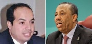 Caretaker Prime Minister Abdullah Thinni (right) promised to handover to newly elected Ahmed Maetig (left) if the courts rule that his election was legal
