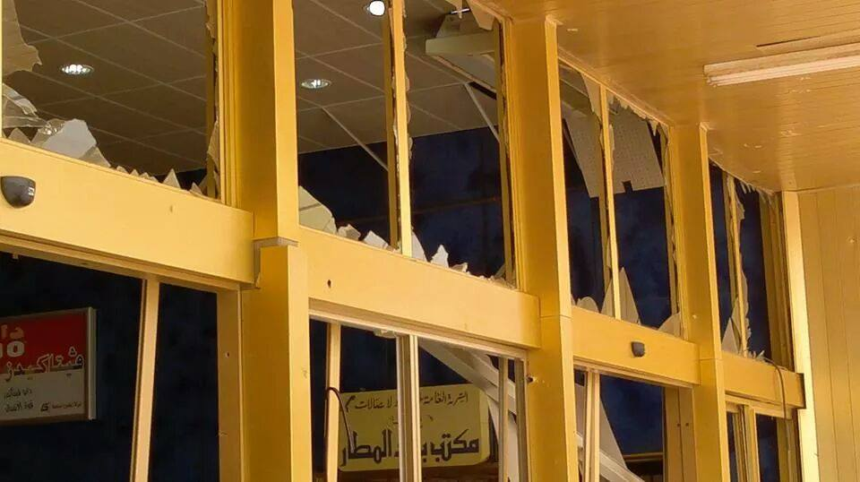 Damage at the newly refurbished departure lounge (Photo: Social Media)