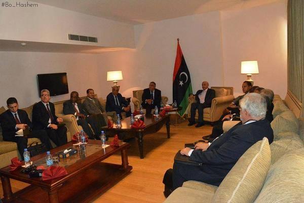 Neighbouring states representatives meet Hor in Tobruk (Photo: Social media)