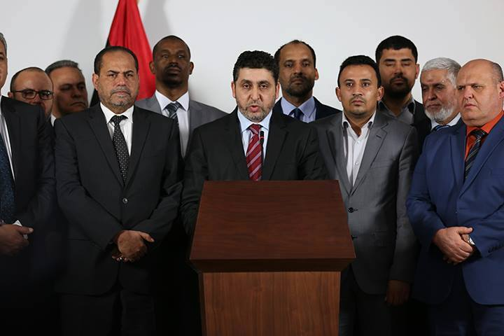 """Khalifa Ghwll in line-up with his """"ministers"""" (phot: Social media)"""