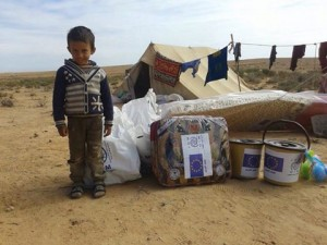 Some Ben Jawad residents lived in the desert for three months and were sent humanitarian aid (Photo: Fadiel Fadeal)