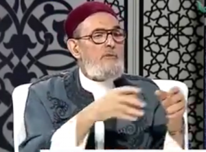 Ghariani on one of his broadcasts on his Tanush TV station (File photo)