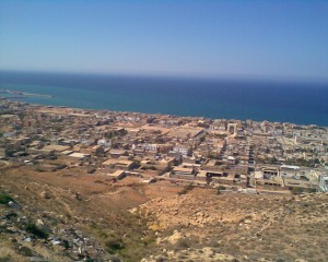 Derna, south of which the LNA patrol was ambushed (file photo)