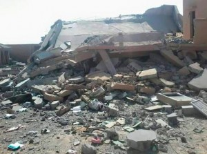 A picture from IS media purporting to show one of the wrecked Sirte properties