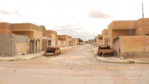 "A deserted street in Tawergha after the residents ""left of their own accord"" (Photo: social media)"