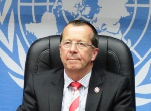 UNSMIL chief Martin Kobler today damned attacks on journalists (File photo)
