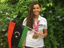 17 year old Daniah Hagul is Libya's only female swimmer competing at the Rio Olympics (Photo: Hagul family).