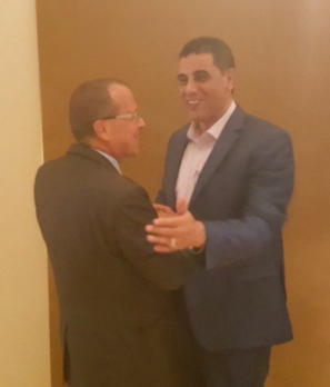 Ali Gatrani last month with UNSMIL's Kobler in Cairo (Photo: UNSMIL)
