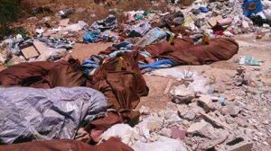 The bodies left in a garbage dump in Leithi (hoto: