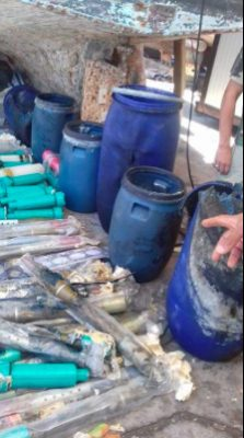 Part of the haul of munitions seized off Benghazi (Photo:social media)