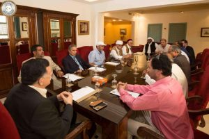 FAiez Serraj meets with Obeidat delgation (Phtot; Presidency council