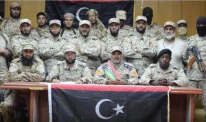 BDB leader Mustafa Sharksi with BDB militiamen (Photo BDB)